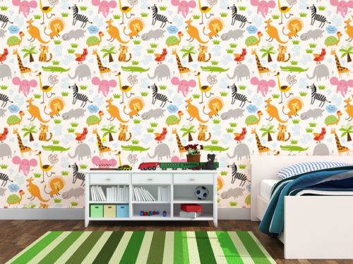 cartadaparatipersonalizzata.com: simpatici animali colorati per la camera dei bambini