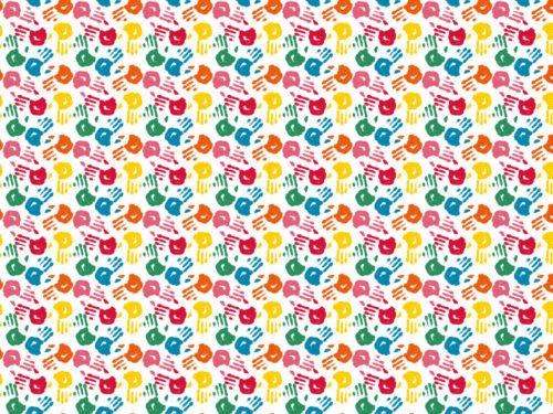 carta impronte colorate per la camera dei bambini