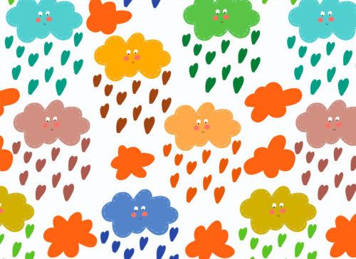 carta nuvolette colorate
