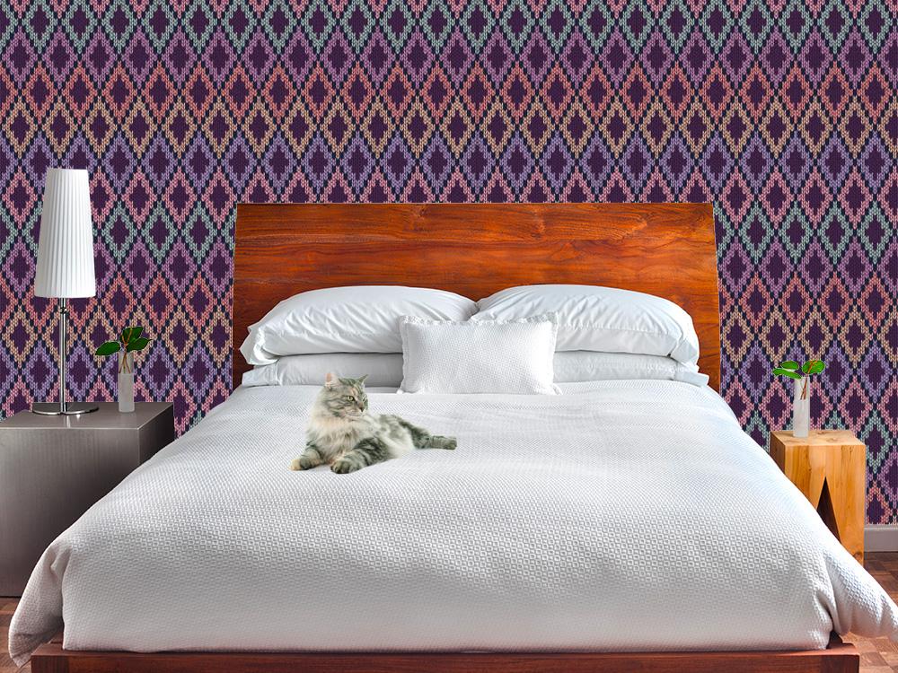 cartadaparatipersonalizzata.com:una parete tutta fatta a maglia! carta da parati Knit
