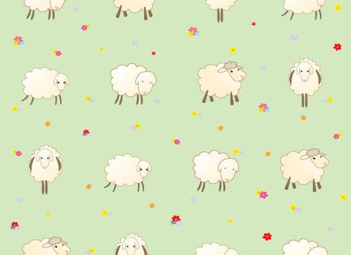carta pecorelle su fondo verde chiaro