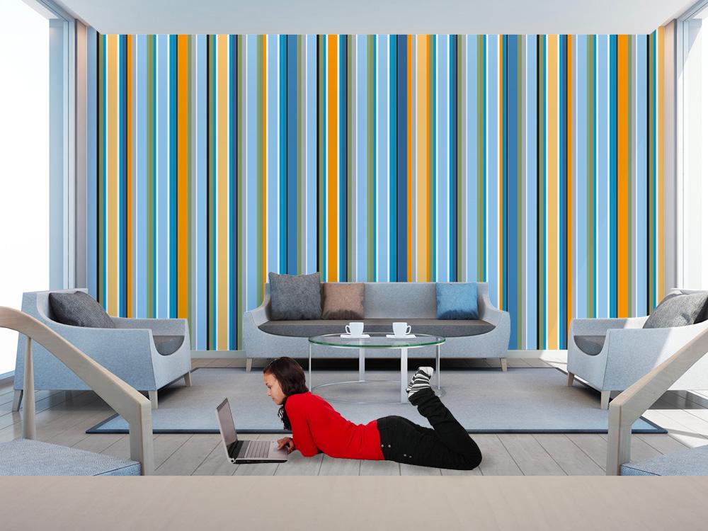 Pareti A Righe Azzurre: Colori pareti soggiorno moderno ...