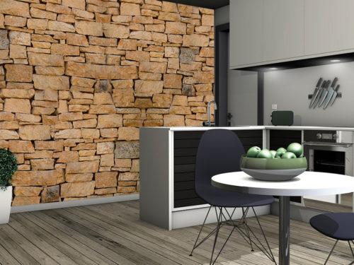 rendi speciale la tua cucina con un effetto muro rustico